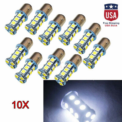 10x BAY15D 1157 5050 18-SMD Car Auto LED Turn Signal Light Tail Brake Lamp Bulb Car Tail Brake