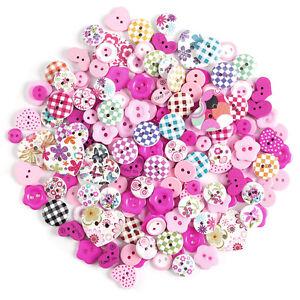 200 x bunte Holzknöpfe Kinderknöpfe Buttons Nähen Kleidung Deko Basteln DIY