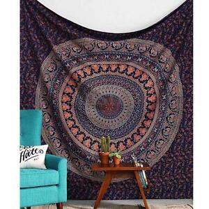 Large Indian Mandala Square Tapestry Wall Hanging Bedspread Beach Mat Blanket AU