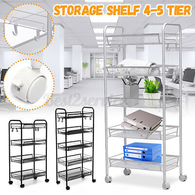 Us 5 Tier Adjustable Steel Shelf Heavy Duty Wire Shelving Rack Storage W Kjd