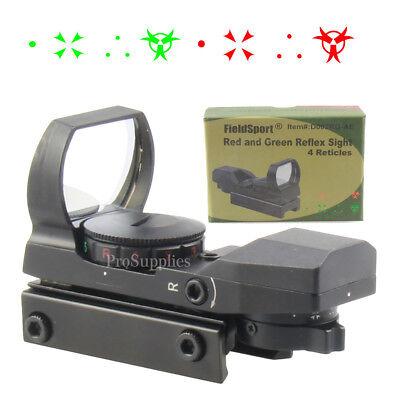 Field Sport Reflex Red Green Dot Sight W 4 Reticles Metal Scope Black