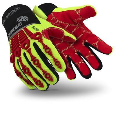 Hexarmor 4036 Chrome Series Hi-vis Waterproof L5 Cut Resistance Gloves Small