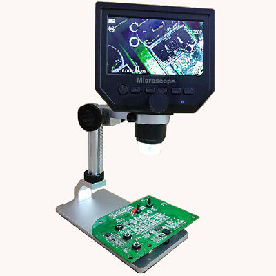 600x 4.3 3.6mp Digital Microscope Magnification Video Camera Magnifier Lcd Us