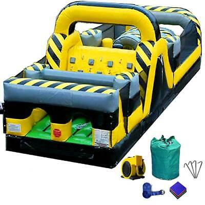 Commercial Inflatable Bounce House Venom Obstacle Course With Blower 15 Oz -