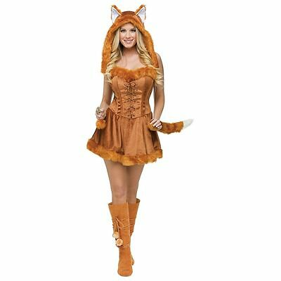 NEW Fun World FW121724-ML Womens Sexy Foxy Lady Adult Costume Medium/Large 10-14](Foxy Brown Halloween Costume)