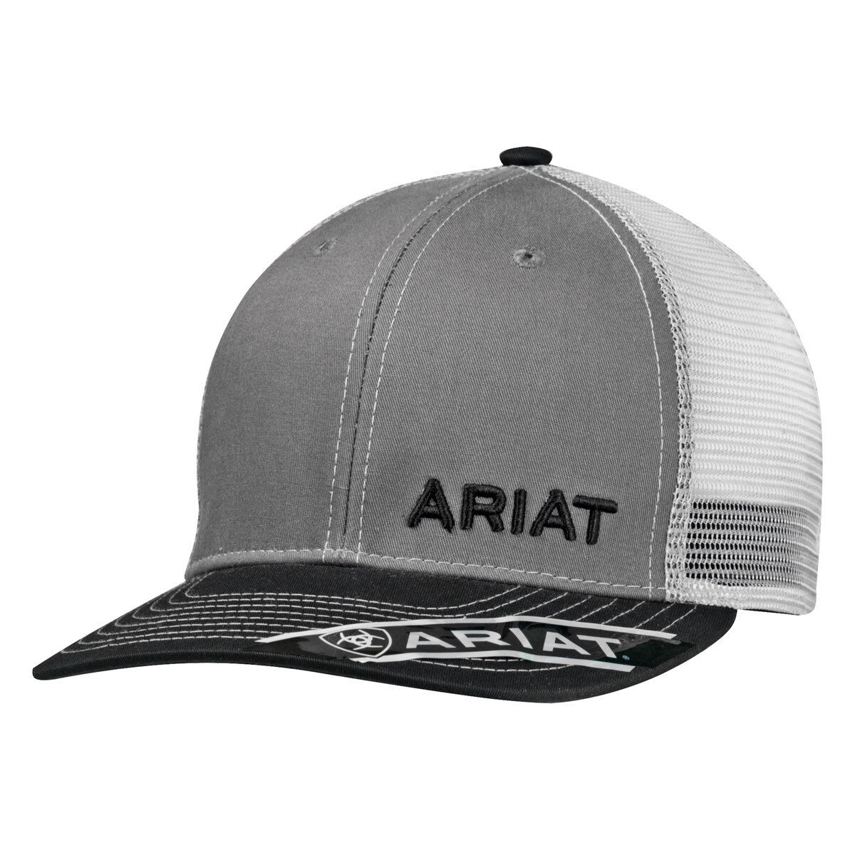 d9db5661a17709 ... black a7153 db49b canada ariat mens cap grey one size adjustable 7 post  snap closure medium structured profile 6 ...