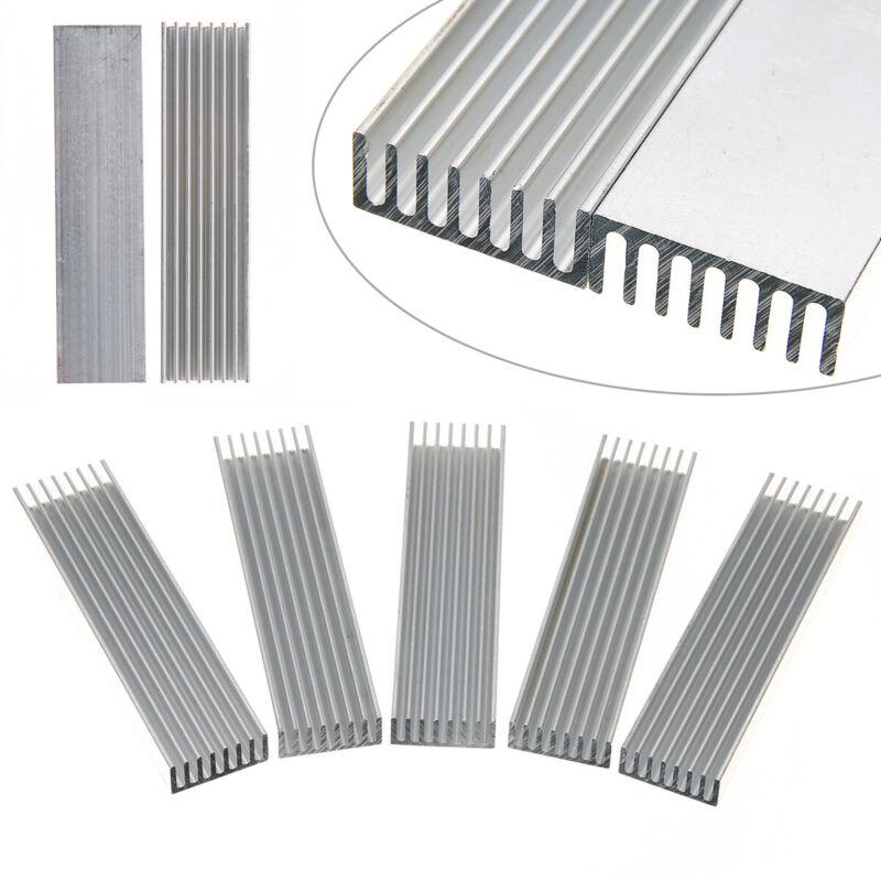 5 Stück Kühlkörper Aluminium 100 x 25 x 10 mm