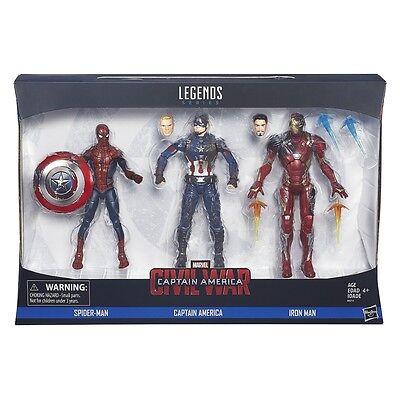 Captain America Civil War Marvel Legends Action Figure 3-Pack by Hasbro