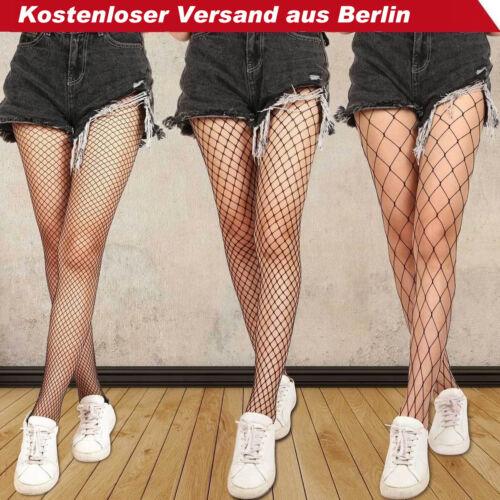 FrauenSchwarz Mesh Netz Muster Strumpfhosen Strumpf Socke Fishnet Pantyhose DE