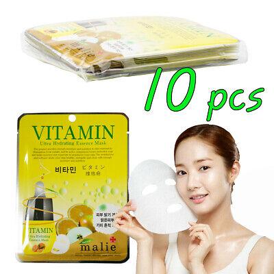 [Malie] VITAMIN Essence 10 Sheets Korea Cosmetic Ultra Hydrating Essence Mask