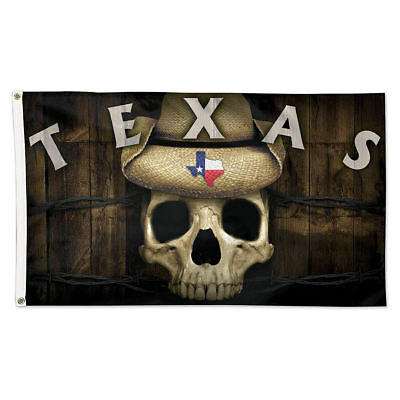 State of Texas Skull Flag with Grommets