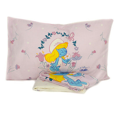 Completo lenzuola copriletto per lettino culla Bassetti Puffetta Flower L860