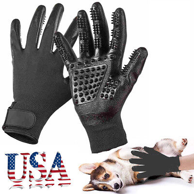 1PCS Pet Dog Cat Grooming Gloves Hair Fur Remover Bathing Shedding Massage Tool