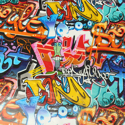 Graffiti Doodle Hydrographic Water Transfer Hydro Dipping Dip Print Film 200cm