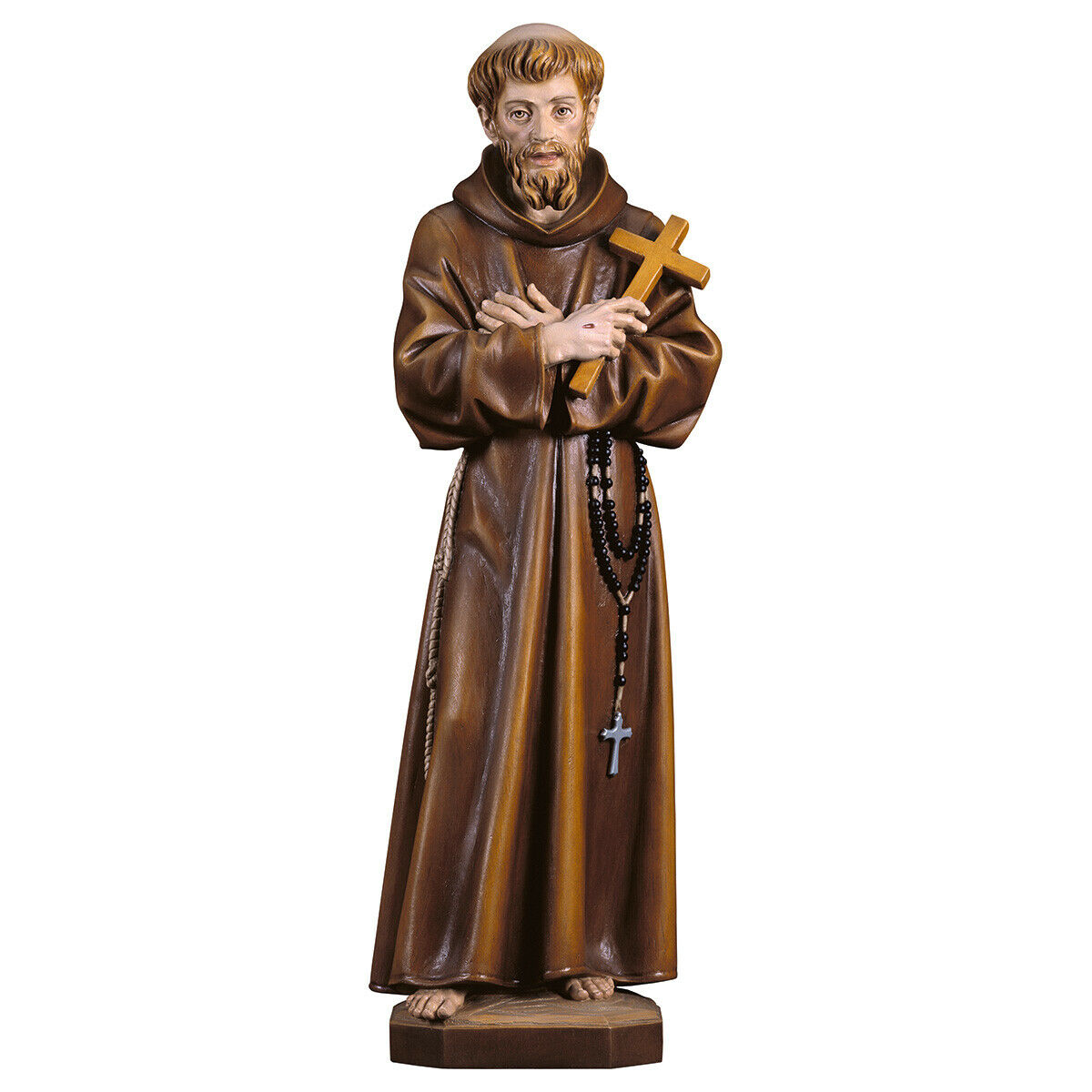 Statue Saint Francesco Assisi with Cross - St. Francis of Assisi with Croce