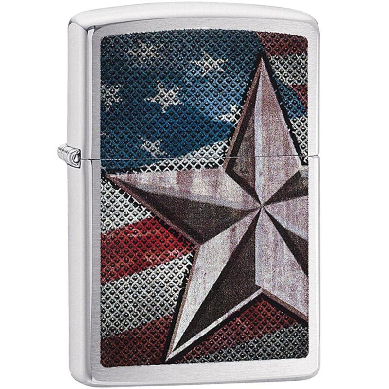 Zippo Retro Star Brushed Chrome Windproof Pocket Lighter