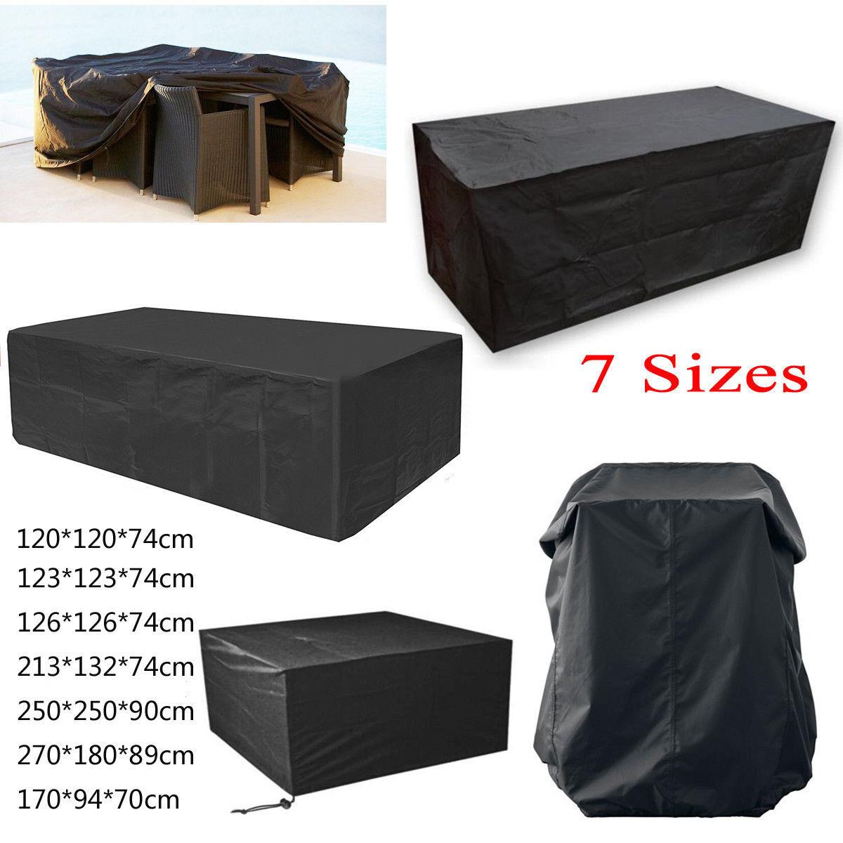 Abdeckung Schutzhülle für Gartenmöbel Gartentisch Sitzgruppe 213 x 132 x 74cm