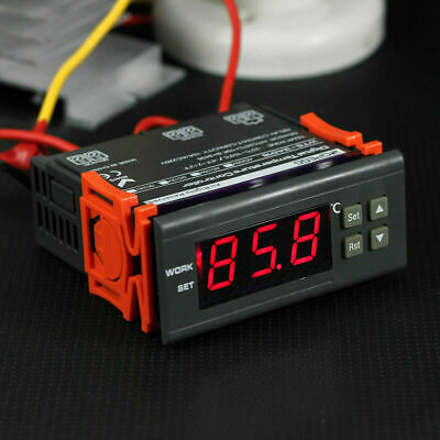 New 10a 110v Digital Temperature Controller Temp Sensor Thermostat Control Relay