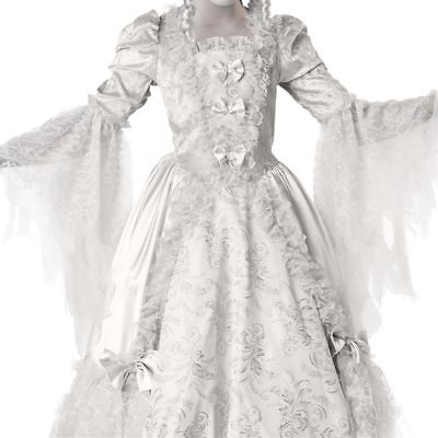 NEW Ghost Costume Kids Girls Corpse Countess Halloween Fancy Dress gown