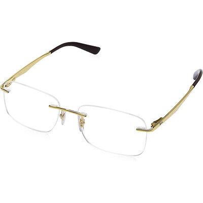 New Ray-Ban Rimless RX6385I 2500 Gold Men's Eyeglasses Frames (Gold Frame Ray Ban Eyeglasses)