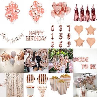 Rose Gold Series Foil Latex Balloon Helium Star Birthday Party Wedding Decor CA