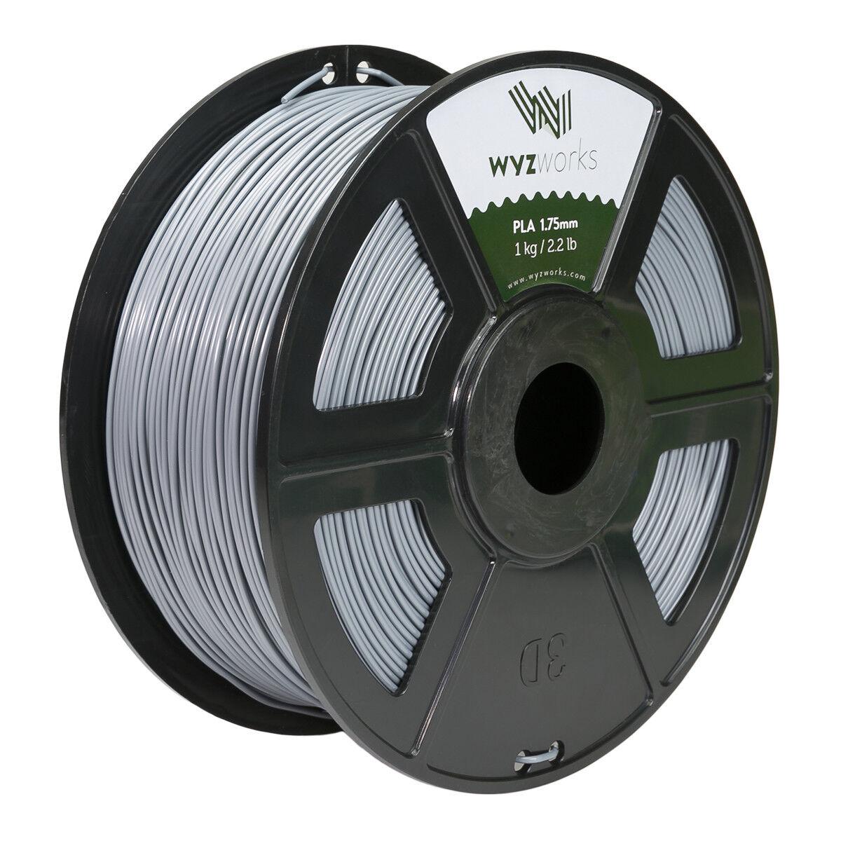 Light Grey PLA 1.75mm WYZworks 3D Printer Premium Filament 1kg//2.2lb
