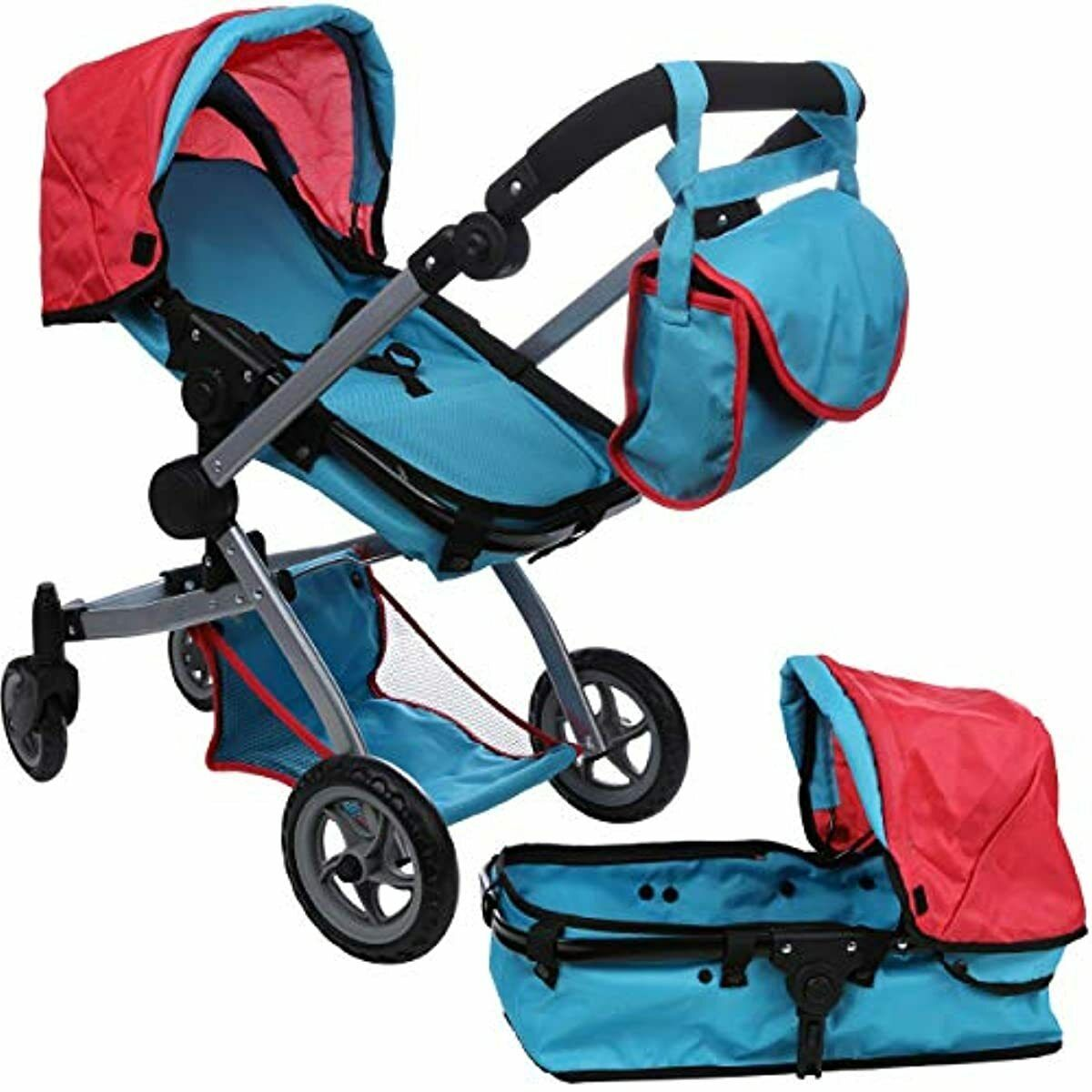 Mommy & Me Babyboo Deluxe Doll Pram Stroller Adjustable ...