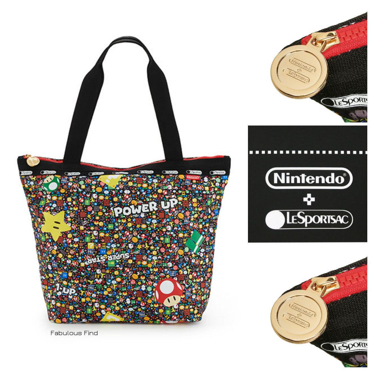 LeSportsac Nintendo Power Up Burst Hailey Tote Handbag Super