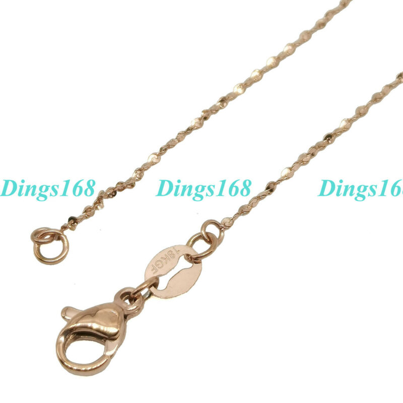 18K Rose Gold Filled HypoAllergenic 16 inch 1 mm Thin Italian Starry Chain B127R