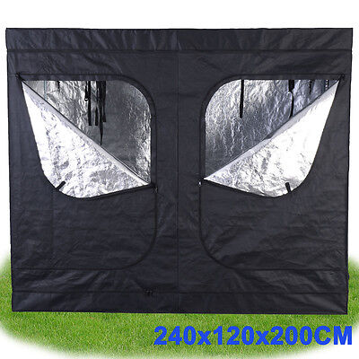 240X120X200cm Indoor Hydroponics Grow Light Box Tent Aluminum Bud Dark Room
