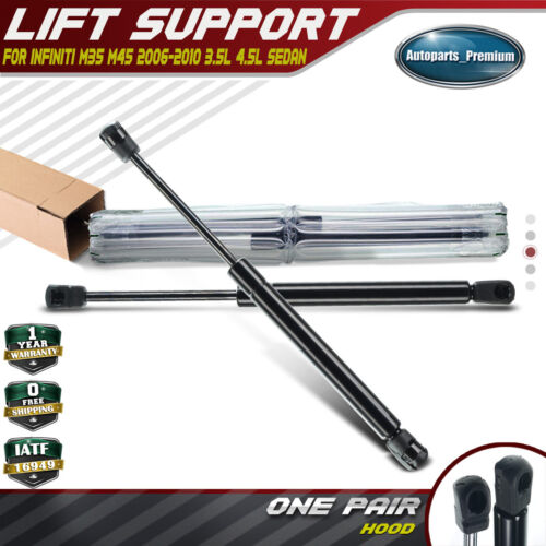 BRAND NEW SET OF FRONT HOOD LIFT SUPPORT STRUTS FOR 06-10 INFINITI M35 M45