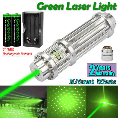 532nm Green Laser Pointer Lazer Pen Zoomable Visible Light 2 1865o Charger Us