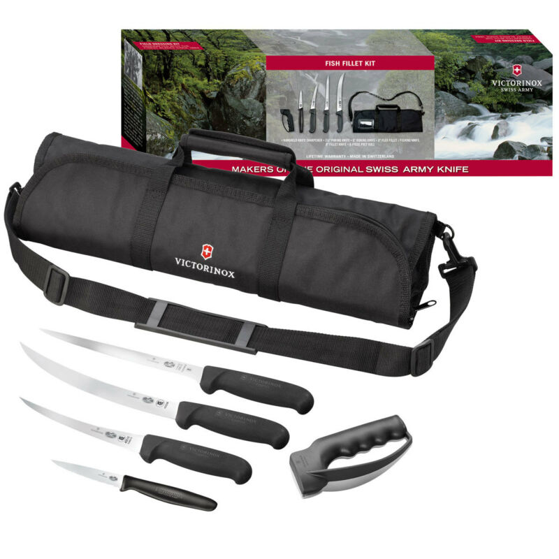 Swiss Army Outdoor Recreation Fish Fillet Kit Fix Blade Knife