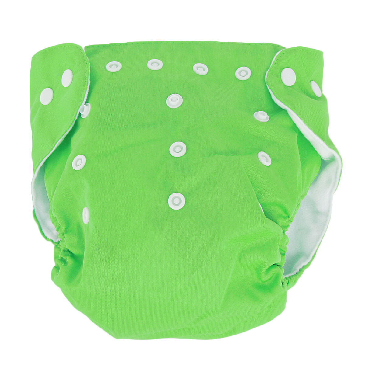 5pcs+ 5Inserts Adjustable Reusable Baby Washable Infant Nappy Soft Cloth Diapers Green
