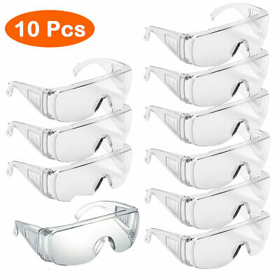 Safety Goggles Glasses Anti Fog Lens Work Lab Eye Protective Eyewear Clear Lens