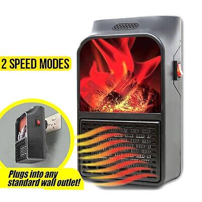 Mini Estufa Calentador Eléctrico 500W Mando a Distancia Chimenea Fuego