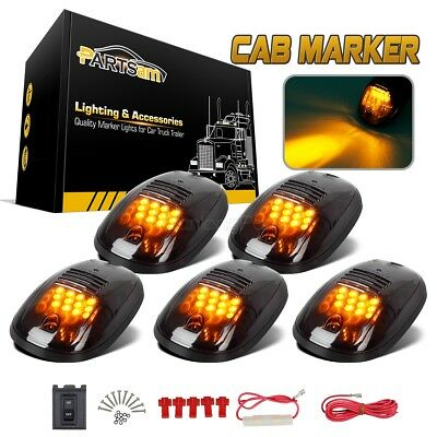5 Smoked Black 12 LED Cab Roof Top Marker Running Clearance Light for Dodge Ram