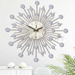 13'' Wall Clock Home Modern Decoration Crystal Mirror Vinyl Art Sticker Decals