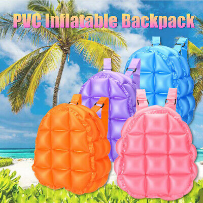 90s Retro Inflatable Backpack Bubble Blow Up Rave Bopping Spice Girls Space Bags - Bubble Backpacks