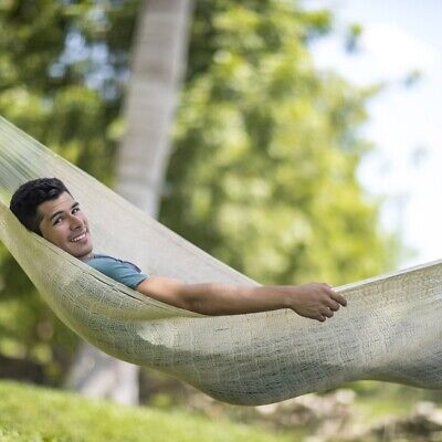 Mexican nethammock Single grande natural white / 1 person   120 kg cotton