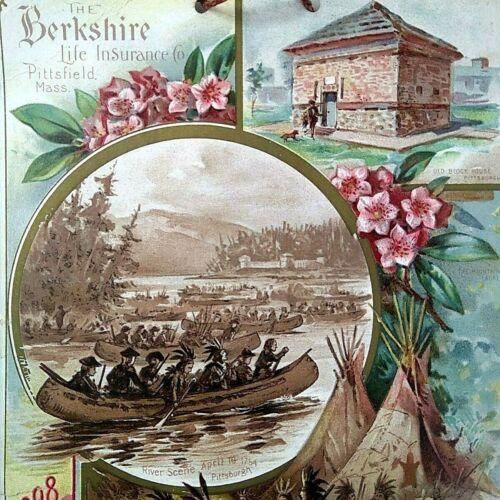 1898 Berkshire Life Ins. Calendar John Ringold Cincinnati Carew Victorian Cards
