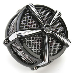 Kuryakyn Black/Chrome Hi-Five Mach 2 Air Cleaner Kit - 9536