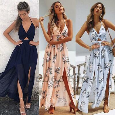 Exquisite Flower Chiffon Summer Beach Holiday Evening Garden Party Maxi Dress - Gardening Summer Flowers