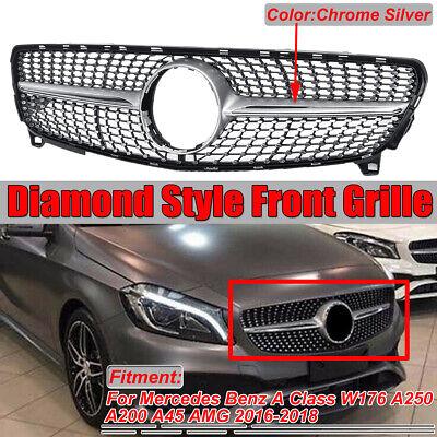 Diamant Grill Kühlergrill Frontgrill für Mercedes A Klasse W176 A45 AMG  !