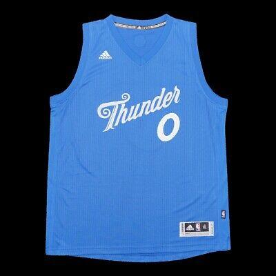 Russell Westbrook Adidas 2016 Oklahoma City Thunder Christmas Swingman Jersey XL
