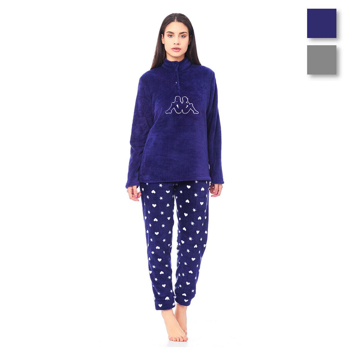 nuovi arrivi metà prezzo aspetto dettagliato Pigiama donna Love&Stars di Kappa in pile coral invernale KWW18671 ...