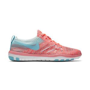 8f9d20d06e68 WMNS Nike TR Focus Flyknit Pink Blue Women Training Shoe Trainer ...