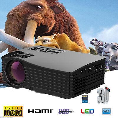 7000 Lumens 1080P LED Projector HD Multimedia Home Cinema VGA HDMI USB SD AV ATV