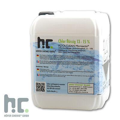1 x 12,5 kg Chlor flüssig 13% stabilisiert frische Ware