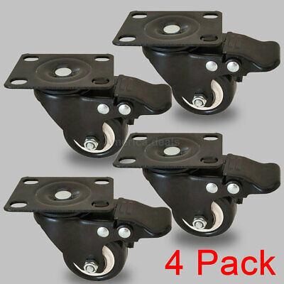 4 Pack 2 Swivel Rubber Caster Wheels Polyurethane Foam No Noise Wheels